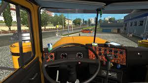 renault truck interior mack superliner black interior for 1 26 1 25 truck ets2 mod