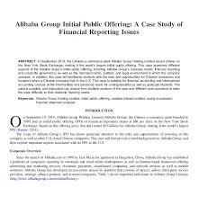 alibaba case study solved alibaba group initial public offering a case stud