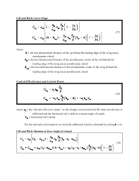 aerodynamic chord 2 aoe 3134 complete aircraft equations