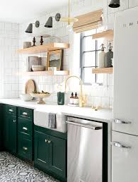 green white kitchen bored of white kitchens discover the cabinet color trending now