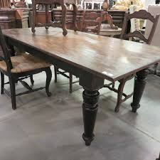 rustic farmhouse dining table 84 black distressed reclaimed wood