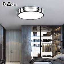 Led Bedroom White Round Ceiling - aliexpress com buy bwart modern office minimalism led ceiling