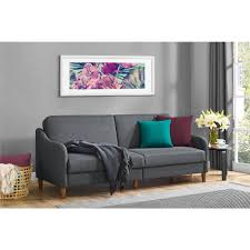 jasper coil futon gray linen walmart com