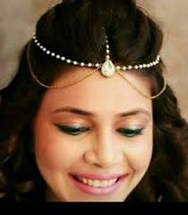 hair jewelry indian gold plated tiara pearl hair chain forehead