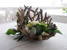 driftwood centerpieces dusty miller picmia