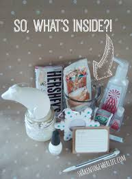 themed gift dreaming of a white christmas gift idea with rubbermaid