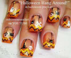 halloween cat nail designs
