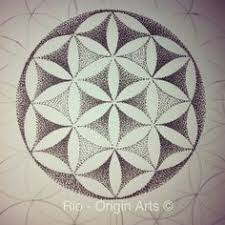 the flower of life is a sacred geometric symbol of the pattern of