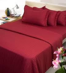 Bed Sheet Set Buy Maroon Solids Cotton King Size Bed Sheets Set Of 3 By