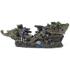 aquarium shipwreck ornaments discount ships wrecks