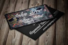 Card Tattoos Designs Business Cards Design For Tattoo Artists Card Design Ideas