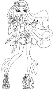 monster high coloring pages clawdeen wolf abbey bominable monster high coloring page coloring pages of