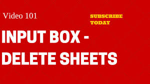 learn excel video 101 vba input box how to delete sheets
