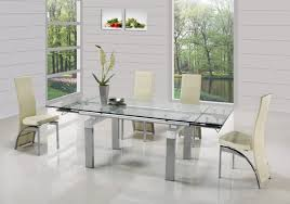 extending glass dining table home decorations modern
