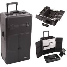 professional makeup artist organizer professional black croc trolley portable cosmetic makeup artist