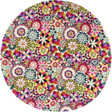 Floral Round Rugs Home Rug Fleury Round