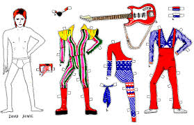 david bowie paper dolls recreate some of the style icon u0027s most