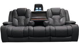 Power Leather Reclining Sofa by Ricardo Leather Reclining Sofa Power Recliner Reviews Label
