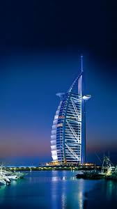 hd background dubai burj al arab and jumeirah beach hotel night