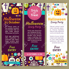 free halloween party flyer templates halloween holiday party invitation template flyer set flat design