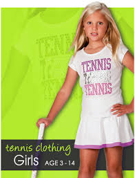 my tennis kit tennis clothing for girls and boys aged 4 to 13