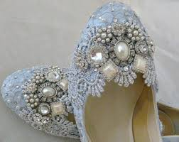 sparkly shoes for weddings blue wedding shoes etsy