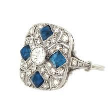 vintage diamond and sapphire engagement ring vintage art deco