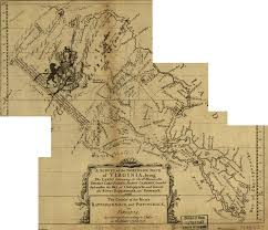 Jamestown Virginia Map by The Fairfax Grant