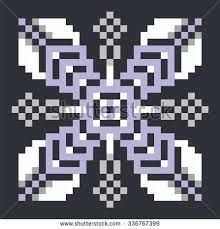 ornamental pattern knitting embroidery snowflake stock vector
