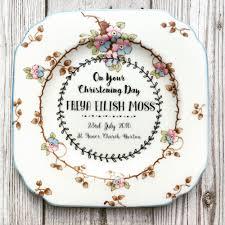 keepsake plates ollieandmoo personalised vintage christening keepsake plate