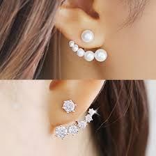 two way earrings korean fancy gradation two way earrings online fashion