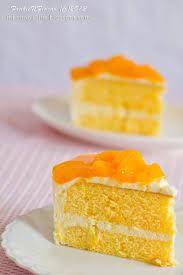 Kek Mango fnf simple kek span oren sunkist mousse keju oren