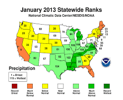 us climate map noaa average temperature of the usa in january at freezing
