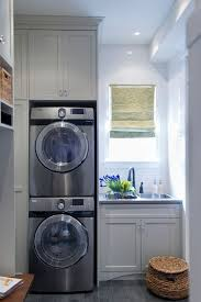 laundry mud room combo with gray shaker cabinets painted