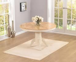 Epsom Cream Cm Round Pedestal Dining Table Set With Chairs - Cream kitchen table