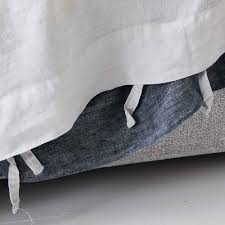 modern designer everything bed linen set denim mist blue flax linen