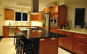 kitchen remodeled kitchen idea with wood storage and dark brown