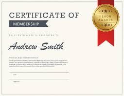 5 certificate of membership templates free download
