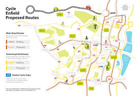 Google Maps Route Planner by Enfield Cycle Routes Cycle Enfield