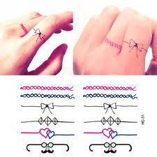 finger tattoos ebay