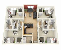 floor plans for 4 bedroom houses 3d plan of a house 4 bedroom 3d floor plans 4 bedroom house