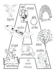 alphabet coloring pages in spanish spanish coloring pages coloring book also coloring book and alphabet
