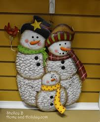 snowman family metal wall and winter decoration