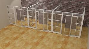 modern glass office demountable walls room dividers cubicle panels