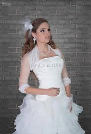 white ivory new tulle jacket bridal wrap shrug long sleeve bolero