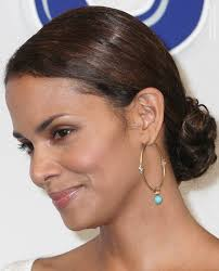 back view of halle berry hair how to make halle berry s updo with the hair styled snug to the scalp