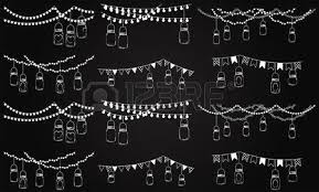 Mason Jar String Lights Vector Collection Of Chalkboard Style Mason Jar Lights Royalty