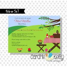 Gathering Invitation Card Free Picnic Invitation Background Templates