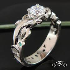 dolphin engagement ring dolphin wave mounting