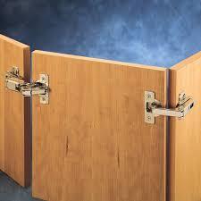 corner cabinet door hinges pie cut corner hinges rockler woodworking and hardware